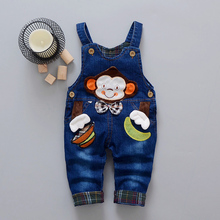 DIIMUU Children Clothing Boys Girls Denim Overalls 1pc Spring Autumn Fashion Toddler Baby Clothes Cartoons Jeans Suspender Pants baby bib overalls spring autumn boys girls suspender trousers infant pants denim jumpsuit jeans rompers toddler clothing