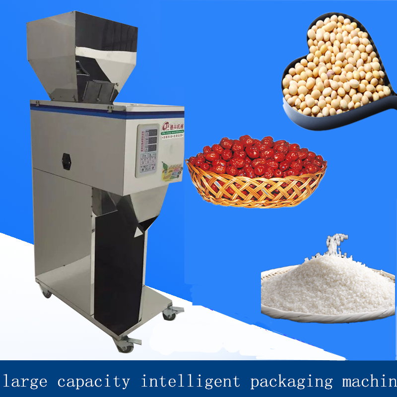 10-999g high-capacity intelligence racking machine,autumatic filling machine, hardware/seed/medicine  packaging machine food packaging machine granular powder medicinal food weighing racking machine bag version installed high quality goods 10 999
