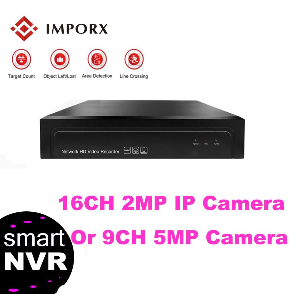 IMPORX 16CH/9CH*5.0MP H.265/H.264 NVR 1080P HD Realtime onvif Security Video Surveillance Recorder For IP Camera CCTV System