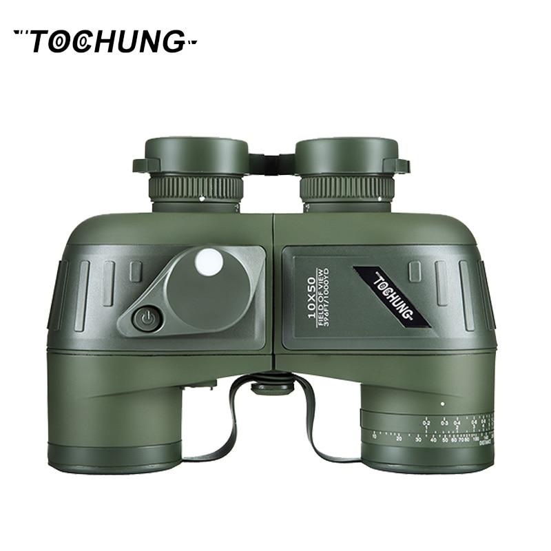 TOCHUNG binoculars 10x50 compass military binoculars professional waterproof marine binoculars,stabilized rangefinder binoculars Бинокль