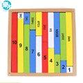 Educação Montessori Brinquedos De Madeira 1-10 Dígitos Cognitivo Brinquedo Matemática Ensinando Logaritmo Versão Criança Aprendizagem Precoce caixa Dígitos