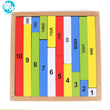 Big sale Montessori Education Wooden Toys 1-10 Digit Cognitive Math Toy Teaching Logarithm Version Kid Early Learning Digit box