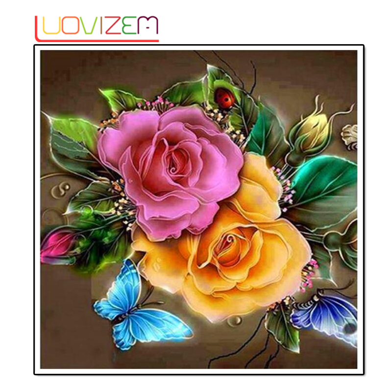 Diamond embroidery 3D Diy painting Flower Cross Stitch Mosaic Home Decor L142