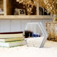 USB Charging Alarm Clock Led Multifunctional Mirror Desk Lamp Mirror Clock Digital Clock Modern Style