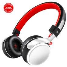 Oneodio A8 Bluetooth אוזניות עם מיקרופון LED אור סופר עמוק בס מתכת מתקפל ספורט Bluetooth 4.2 אוזניות אלחוטיות