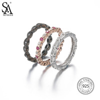 SA SILVERAGE Real 925 Sterling Silver Planet Fashion Trendy Party Ring Sets For Women Fine Jewelry