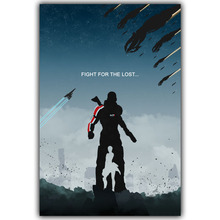 Mass Effect 2 3 4 Hot Shooting Action Game Art Silk Canvas Poster Print Wall Pictures For Bedroom Living Room Decor YX704