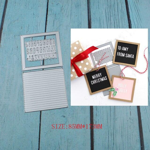 קטן Letterboard מתכת חיתוך מת שבלונות עבור DIY Scrapbook אלבום תמונות נייר כרטיס דקורטיבי מלאכת הבלטות למות חדש 2019