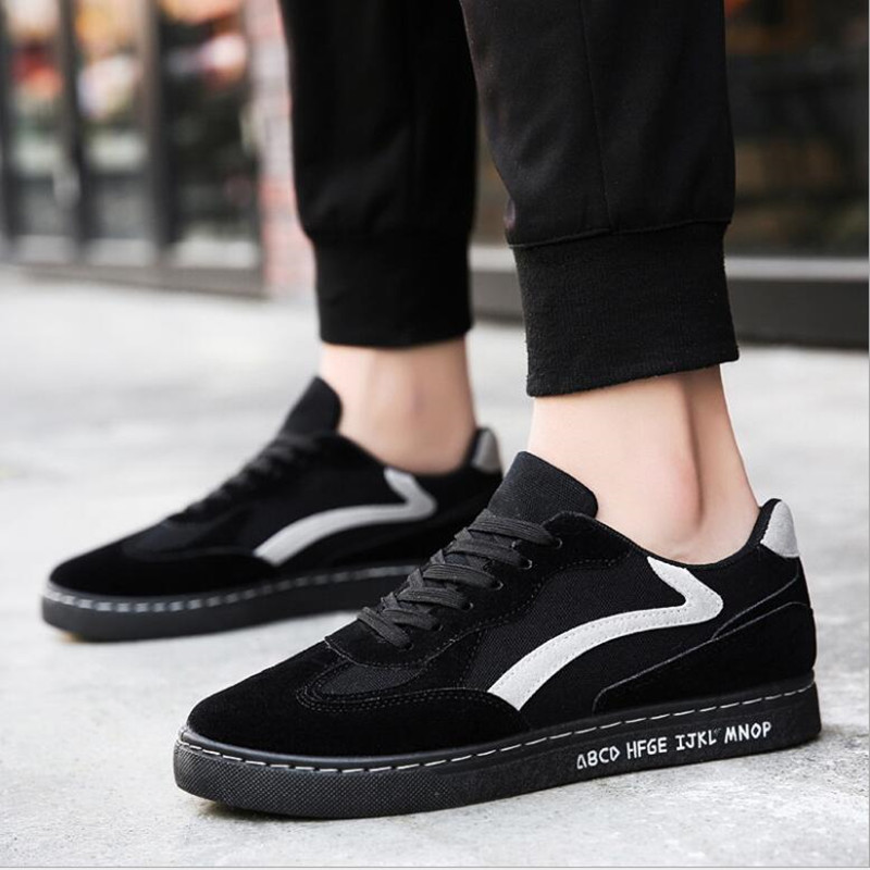 2018 New Fashion canvas shoes men skate sneakers Fashion springautumn lace-up men's casual shoes Design for Student Lovers