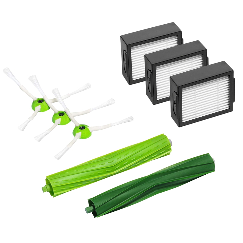 Replacement Parts For Irobot Room Ba Roomba I7 And I7+ Replenishment Kit (3 High Efficiency Filters, 3 Edge Sweeping Brushes,