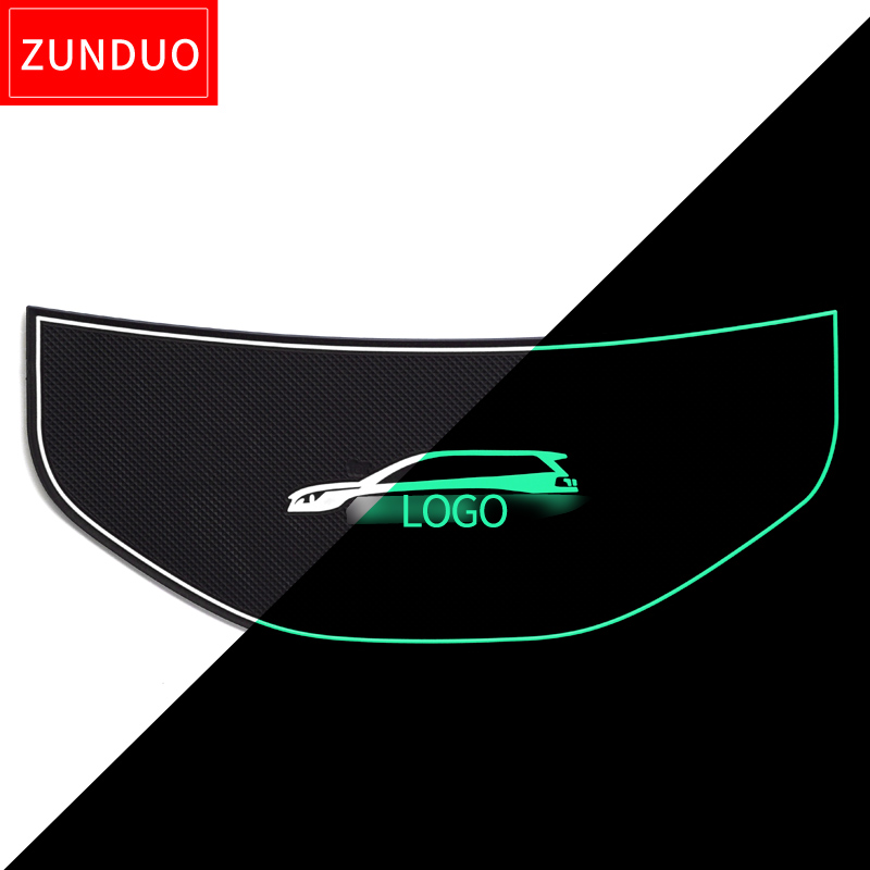 ZUNDUO For Peugeot 5008 MK2 2017 2018 2019 Anti-Slip Rubber Mat Dashboard Mats Protection Accessories 5008 II 2nd Gen Stickers