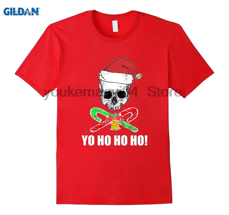 GILDAN FUNNY JOLLY SANTA PIRATE T-SHIRT Ugly Christmas Sweater Gift Voodoo Swag Fun Design Custom Print Short Sleeve T-Shirt