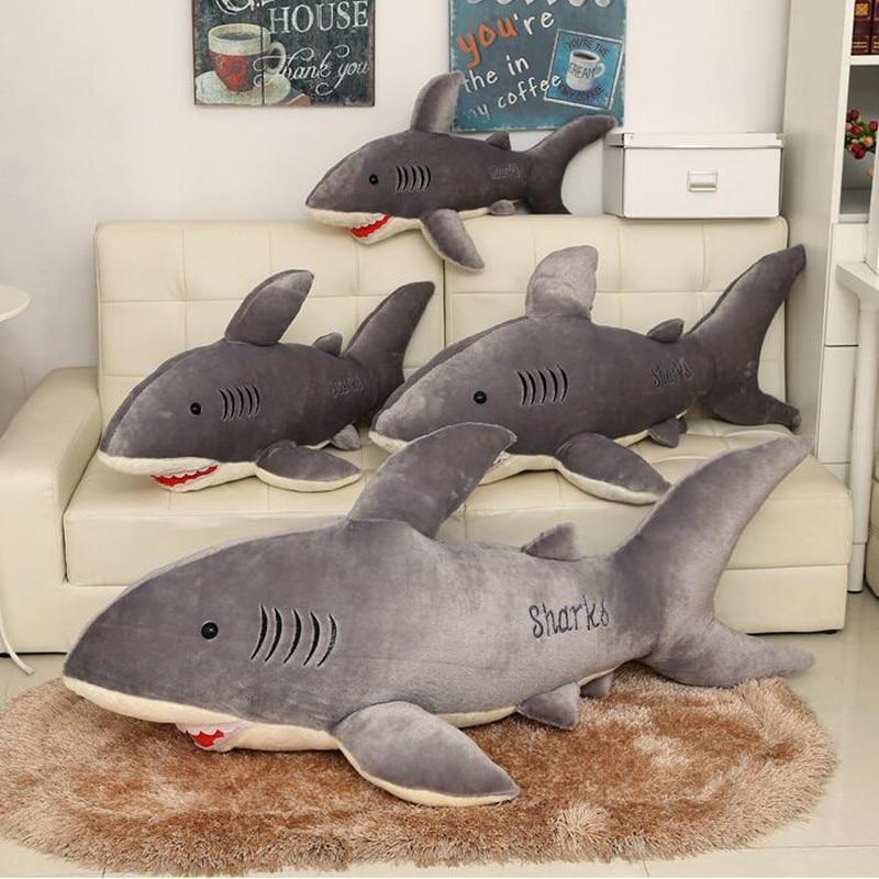 Brave Plush Kids Hawaii Shark Pillow White Shark Plush Toy Giant Stuffed  Animal Juguetes Birthday Gifts
