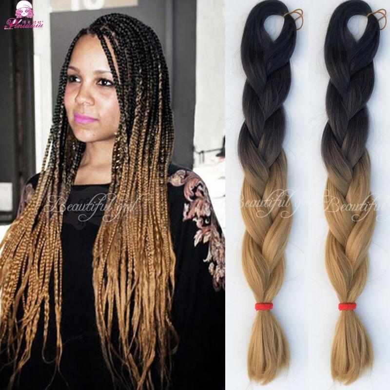 100g Light Brown Ombre Jumbo Braid Hair