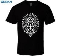 GILDAN Online Custom T Shirts Short O Neck Fashion Maori Warrior Tattoo Face New Zealand Haka