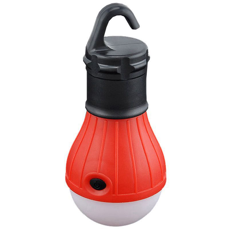 New Outdoor Hanging 3 LED Camping Tent Light Bulb Fishing Lantern Lamp Red
