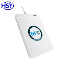 ACR122U NFC Card Reader 13.56Mhz RFID HF IC MF Smart Card USB Reader ISO14443A & B Chip Tags Cards Readers Writer with Free SDK