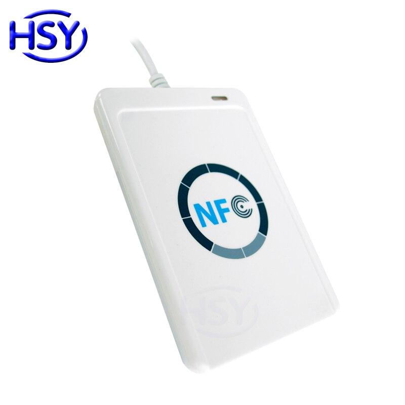 Lecteur de carte ACR122U NFC lecteur de carte à puce USB 13.56 Mhz RFID HF IC MF lecteur de carte à puce ISO14443A et B lecteur de cartes avec SDK gratuit