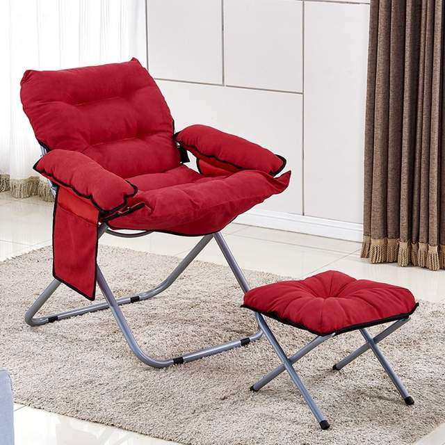 Groovy Outdoor Folding Lazy Sofa Bed Chair W Armrests And Footstool Indoor Floor Sofa Couch Lounge Chair Recliner Machost Co Dining Chair Design Ideas Machostcouk