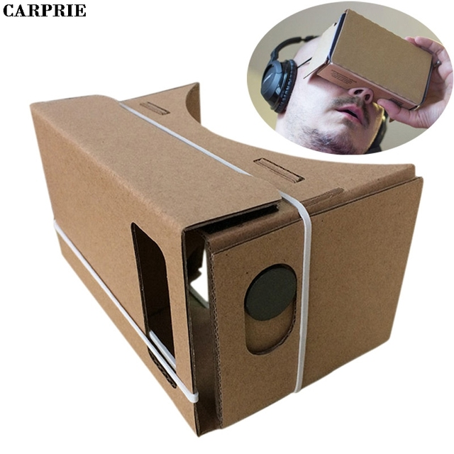 CARPRIE 6 дюймов DIY Google Cardboard 3D VR Очки виртуальной реальности ДВП для samsung для iPhone 6 s для смартфонов 4,7 дюймов