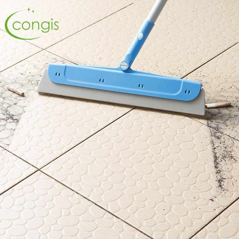 Congis 回転モップ掃除の床伸縮クリーンほうき EVA タイル、窓専用のクリーニングモップ家庭用ツール 2 色