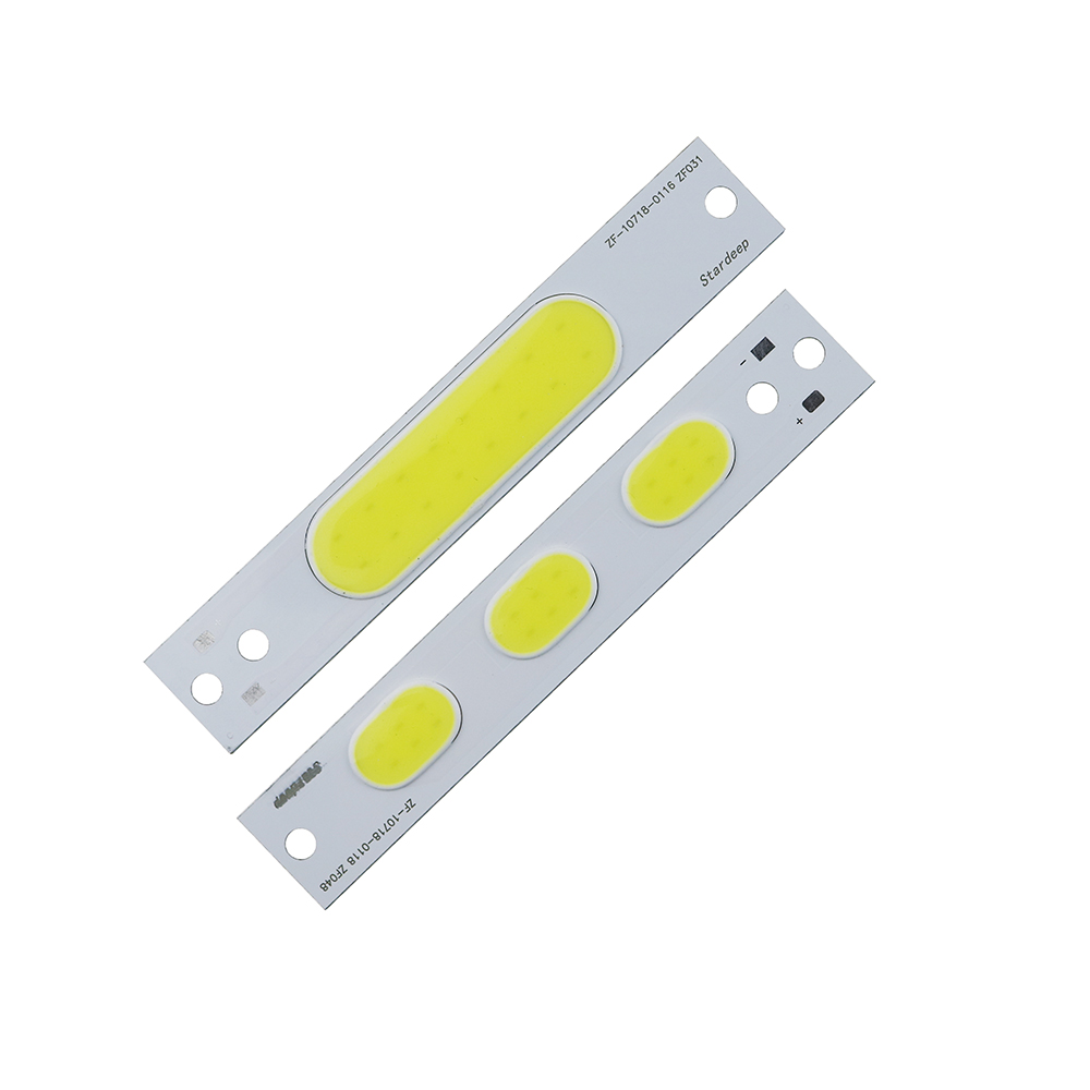 100pcs <font><b>4v</b></font> 4w 5w L107x18mm light white cob <font><b>led</b></font> lamp 400lm-500lm 1000ma COB <font><b>strip</b></font> source bicycle light source light image