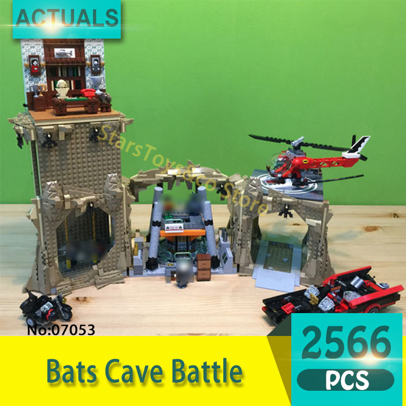 Lepin 07053 2566Pcs Super heroes Series Bats Cave Battle Model Building Blocks Set  Bricks Toys For Children Gift 76052