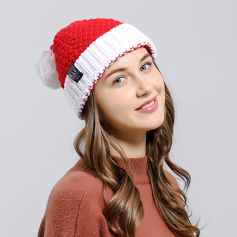 Wool Hat Halloween Gift Knitted Autumn Winter Fashion Christmas-Hat Santa-Claus Creative