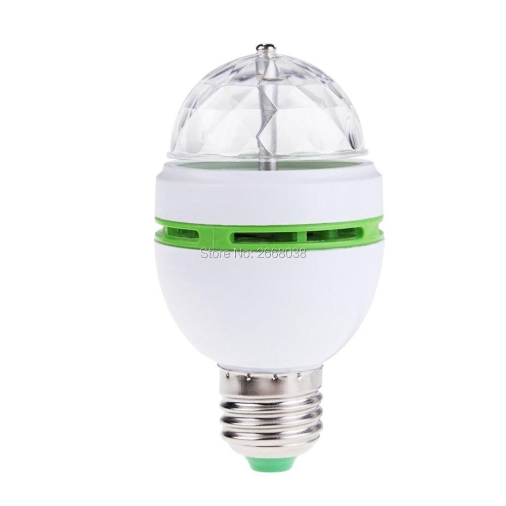 Mini led E27 3 Watt Bunte Auto Rotating RGB Led lampe Magie Ball ...