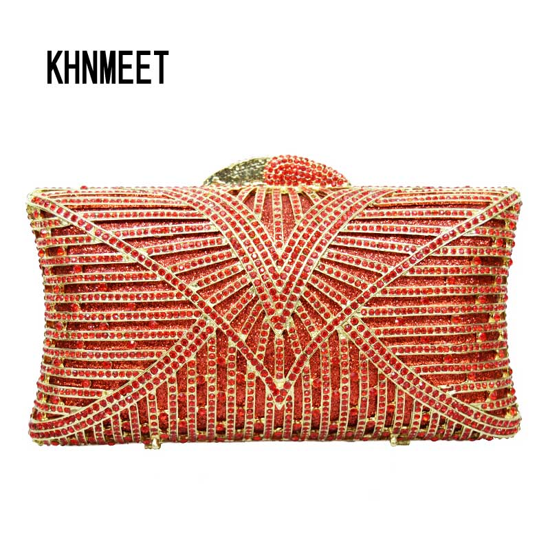 LaiSC fashion stripe colorful evening bags women luxury crystal Clutch bags diamante Handcraft handbags vintage pochette SC064