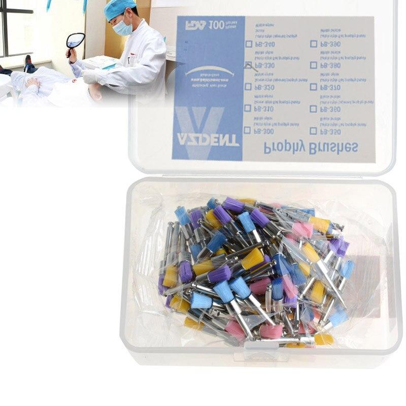 100pc/Box Colorful Nylon Bowl  PB-330 Polishing Polisher Brush  Flat Type Teeth Whitening Oral Hygiene  Prophy Brushes