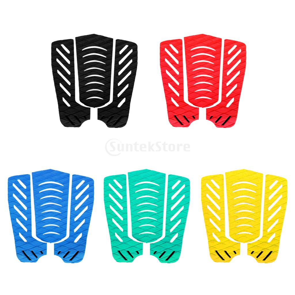 1 set of 3pcs Anti-Slip Surfboard Traction Tail Pads Surfing Surf Deck Grips