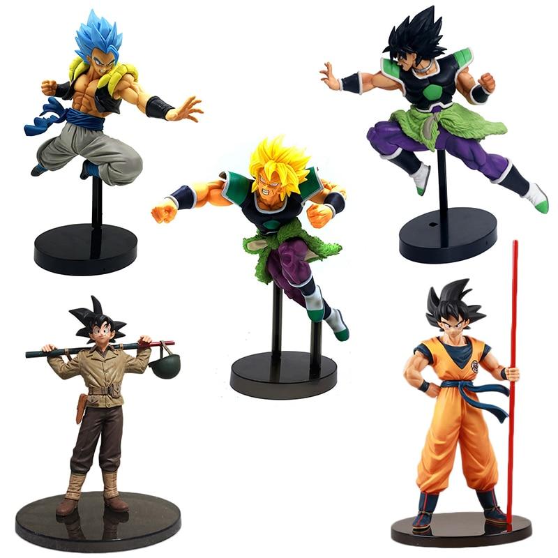 19.5-23cm Dragon Ball Z Goku Vegeta Broly Action Figure BWFC 2 Goku Figure Broly Figura Vegeta Dragon Ball PVC Model Toy