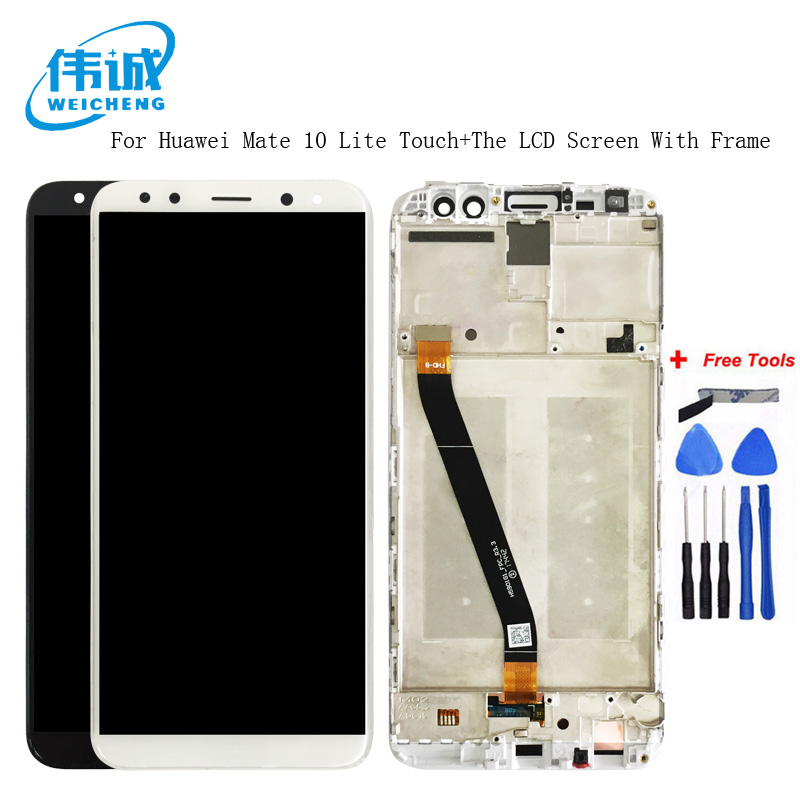WEICHENG Top Quality For 5.9 inch Huawei Mate 10 Lite LCD Screen + Touch Screen With Frame Display Assembly + tools