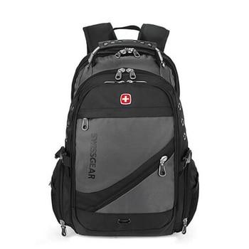 スイスのラップトップバックパック男性男の子通学多機能15.6インチ防水男性旅行バッグリュックサックノートブックボーイコンピュータバッグラップトップバッグ