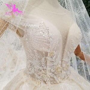 Image 1 - AIJINGYU فستان أبيض بسيط ثوب فاخر متجر الصين Frocks المشاركة الكرة ارتداء للعروس على الانترنت بيع خمر زي العرائس