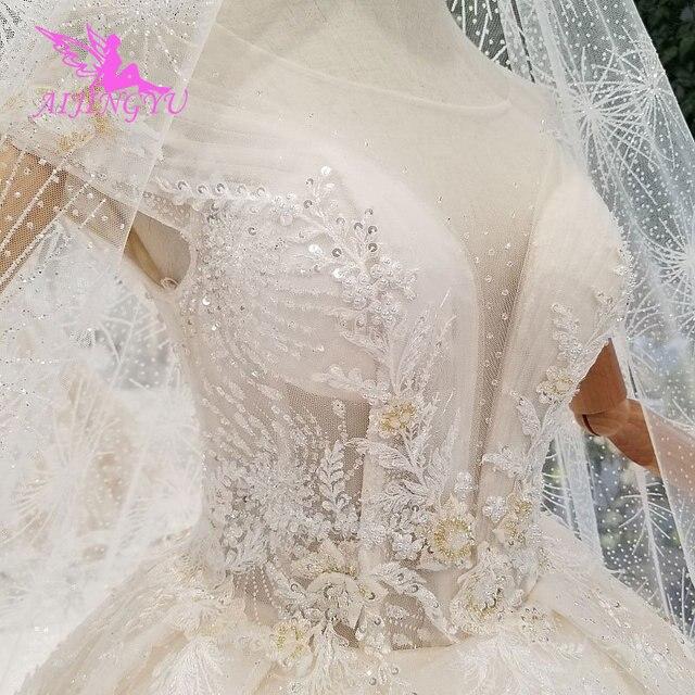 AIJINGYU فستان أبيض بسيط ثوب فاخر متجر الصين Frocks المشاركة الكرة ارتداء للعروس على الانترنت بيع خمر زي العرائس