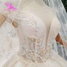 AIJINGYU Semplice Abito Bianco Abito di Lusso Negozio di Porcellane Abiti di fidanzamento Sfera di Usura Per La Sposa Vendita On Line di Vintage Abiti Da Sposa