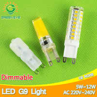 5w ~ 12w Dimmable led G9 220V lámpara G9 reemplazar 30 70 70W halógeno SMD 2835 LED G9 luz Led Bombilla cristal Lampara Bombilla ampolla