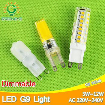 5w~12w Dimmable led G9 220V lamp G9 Replace 30~70W halogen SMD 2835 LED G9 light Led bulb lamp Crystal Lampara Bombilla Ampoule image