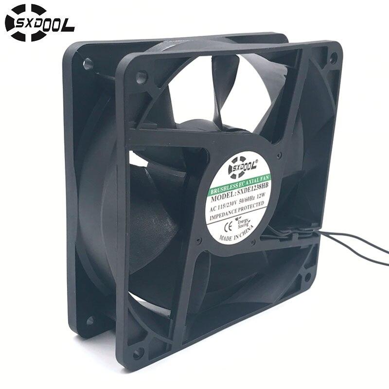 CE motor ventilador de refrigeración 220 V 110 V 230 V 115 V sxdool SXDE12038HB 120mm 12038 12 V 3500 RPM 147.6CFM enfriador axial