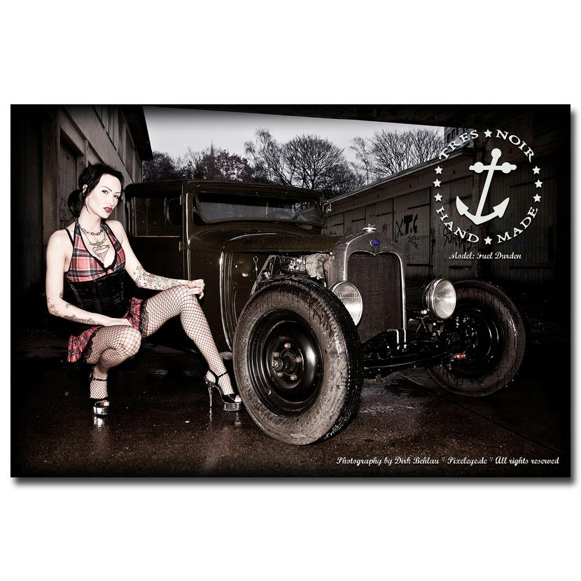 nicoleshenting hot rod muscle car art silk fabric poster print