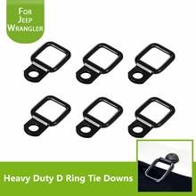 Black Steel Heavy Duty D Ring Tie Downs BoltOn Trailer Cargo Tie-Down Anchor for Jeep Wrangler Trunk Cargo Net Tie Down Strap цена