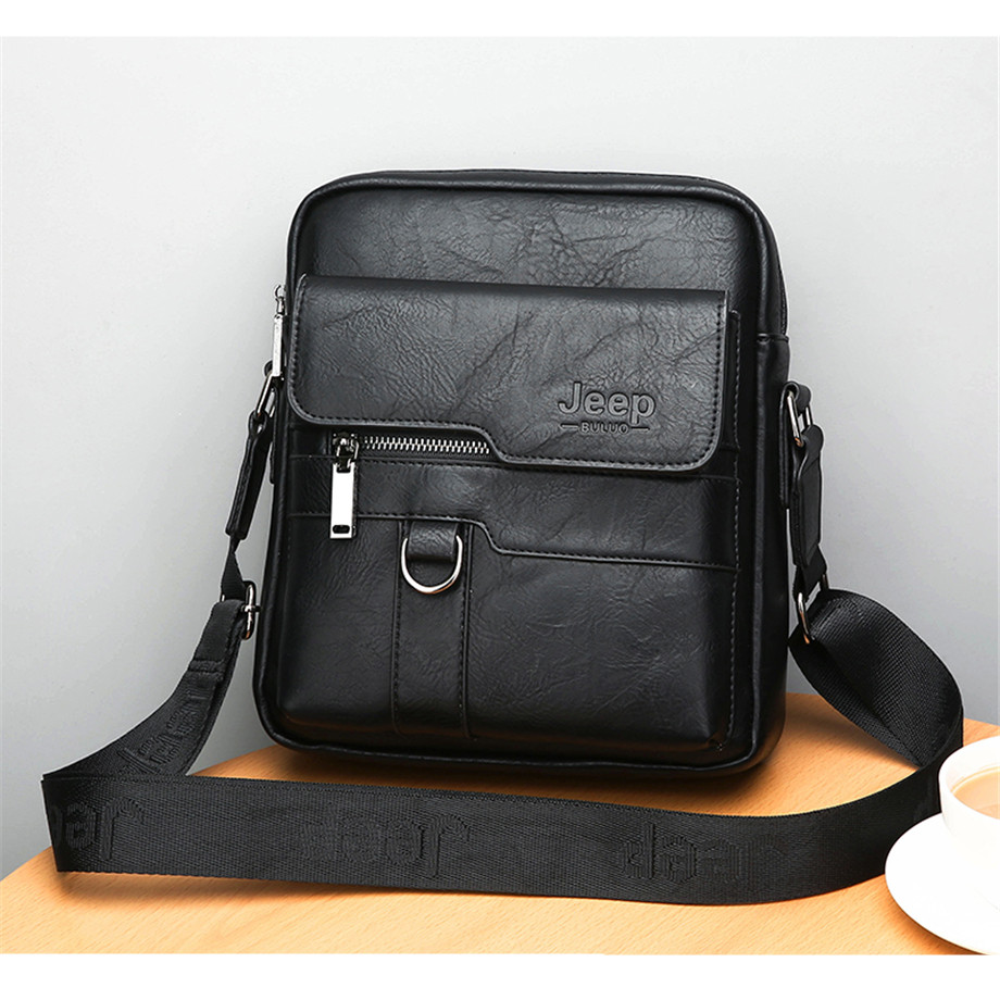 JEEP BULUO Luxury Brand Men Messenger Bags Crossbody Business Casual Handbag Male Spliter Leather Shoulder Bag Large Capacity 11