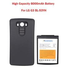 Новый Большой Емкости 8000 мАч Замена Расширенную Батарею С Черной Защитный Чехол Для LG G3 BL-53YH Горячей Продажи