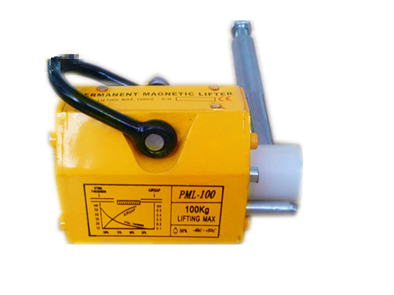 100kg portable permanent magnetic lifter crane metal lifting tool steel sheet magnet lifter 600kg permanent magnetic lifter heavy duty steel lifting magnet hoist crane ce certified