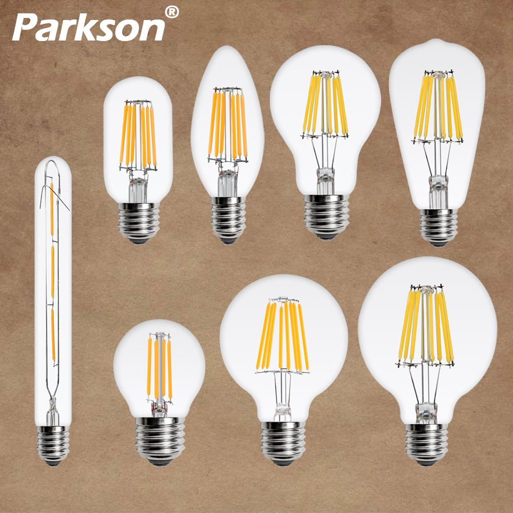 LED Filament Bulb E27 Retro Edison Lamp 220V E14 Vintage LED Bulb Globe Candle Light Bulb Chandelier Lighting COB Home Decor