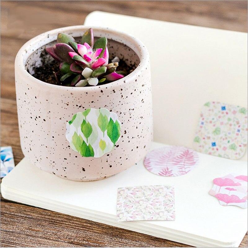 Купить с кэшбэком 45 Pcs/box Flower grass World Paper Decoration DIY Scrapbook Notebook Album seal Sticker Stationery Kawaii Girl Sticker