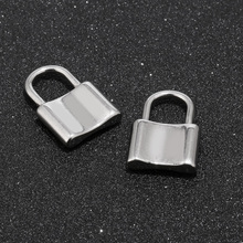 12pcs Silver Color Stainless Steel Lock Charms For Jewelry DIY Making Handmade Lock Pendants Accessories friends f12 stainless steel combination lock silver