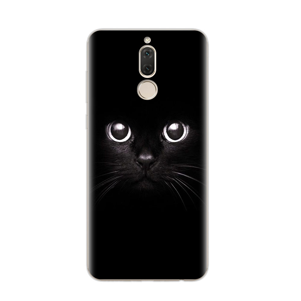 Huawei Mate 10 Lite Case,Silicon Cat Painting Soft TPU Back Cover For Huawei Mate 10 Lite 5.9